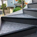 世田谷区T様邸の外階段長尺シート工事 – 階段・廊下のシート貼替リフォーム