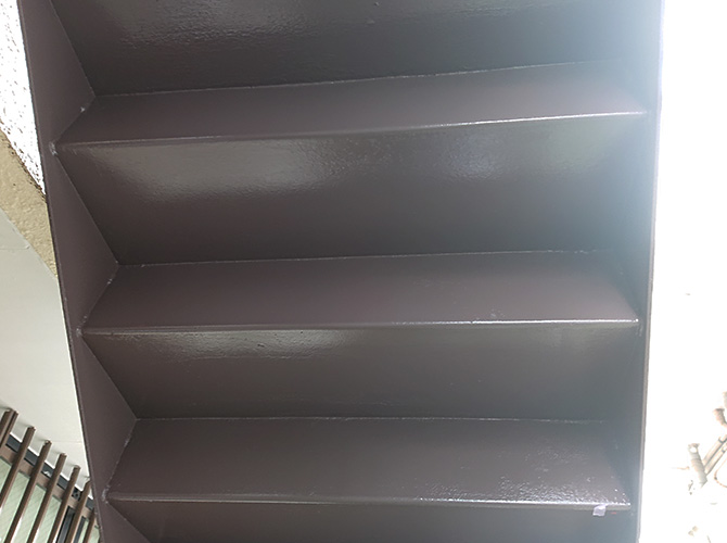上裏の塗装完了後